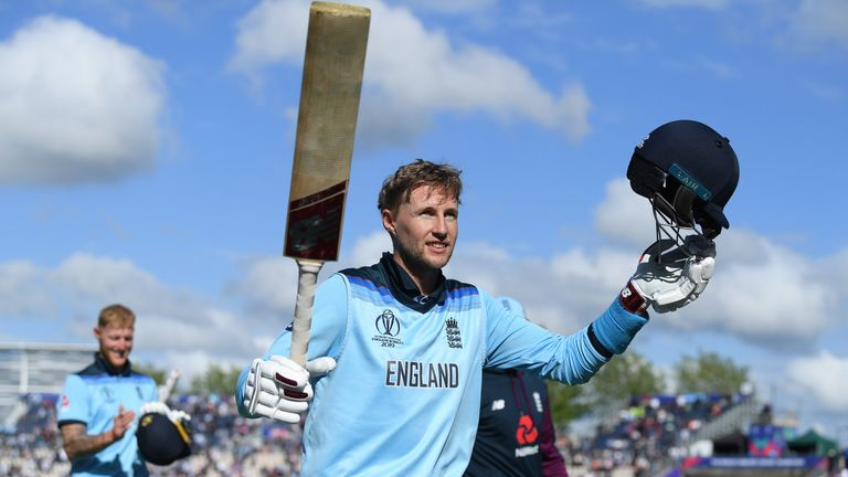 Joe Root's unbeaten hundred steered England to an eight-wicket victory over the West Indies