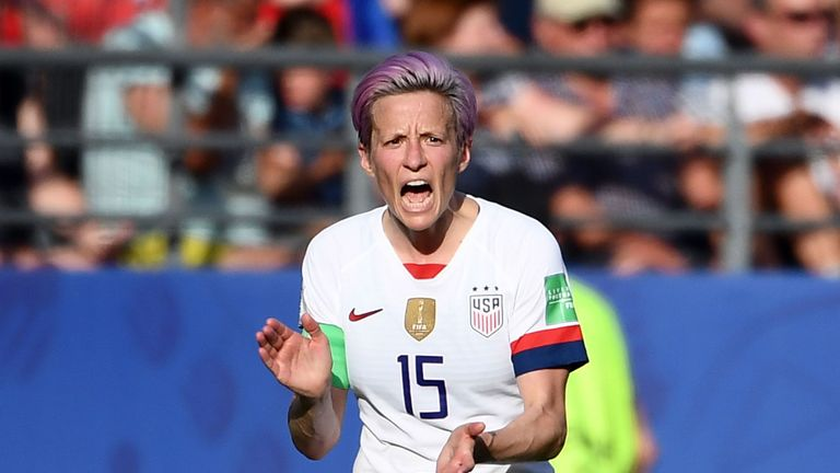 USA goalkeeper Alyssa Naeher has praised team-mate Megan Rapinoe for speaking her mind after Rapinoe claimed she would not visit the White House if invited.