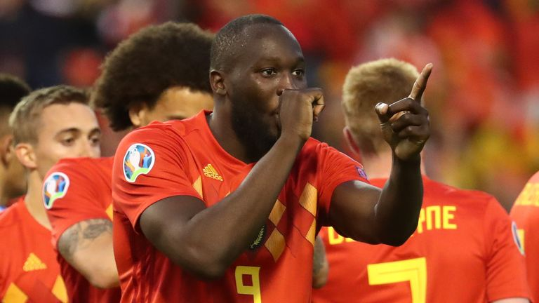 Romelu Lukaku faced questions over his Manchester United future after scoring twice for Belgium against Scotland