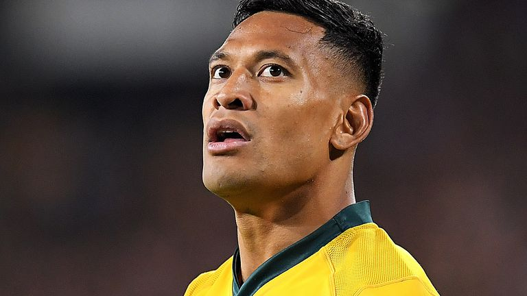 Sacked Wallabies full-back Israel Folau