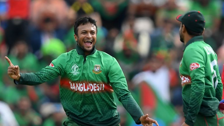 Watch the best of the action as Bangladesh beat Afghanistan in Southampton to keep their World Cup semi-final hopes alive
