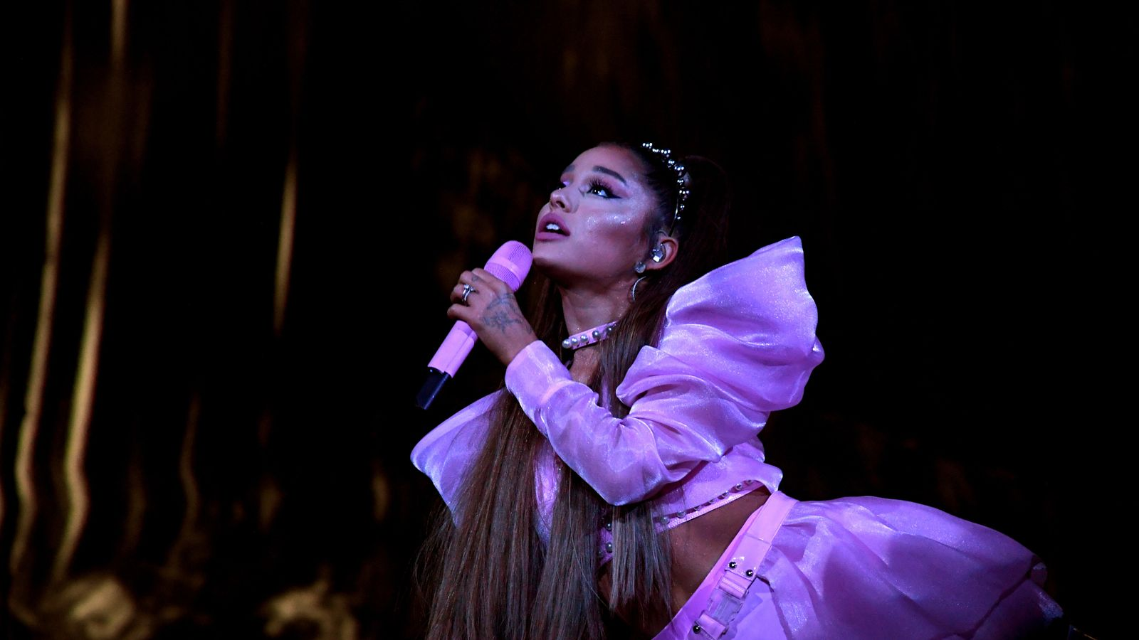 Ariana Grande Says She Is Still Processing A Lot After Breaking Down On Stage Ents Arts News Sky News