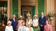 The Royal family with baby Archie following his christening
