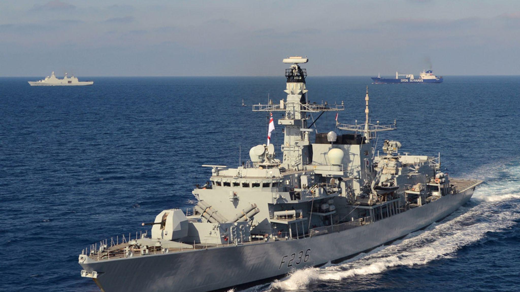 Royal Navy warship shadowing British tanker after Iran threat