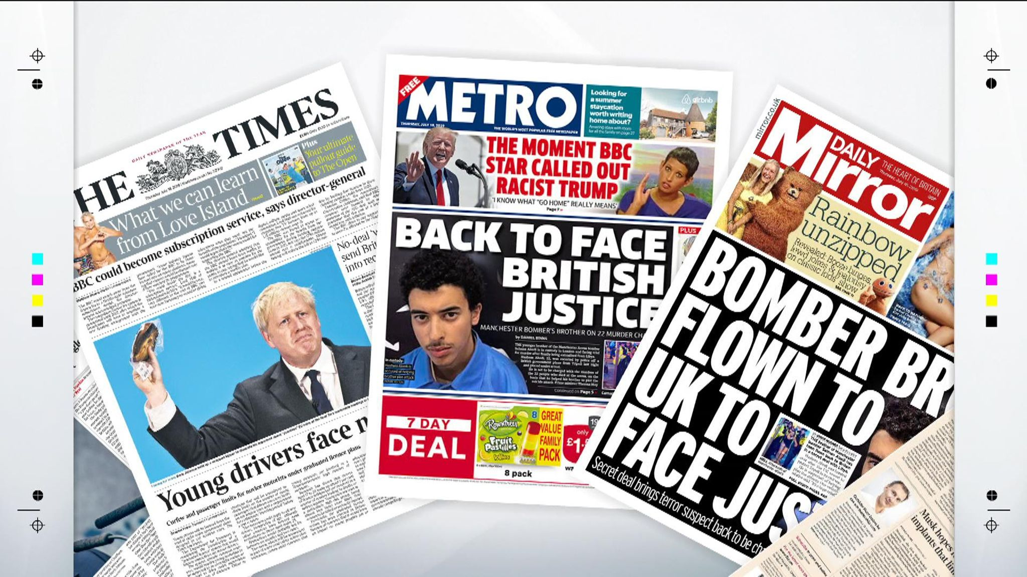 Ander Page Videos thursday's national newspaper front pages   uk news   sky news