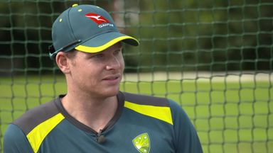 In the nets with Steve Smith