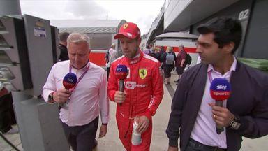 Vettel: Not happy today