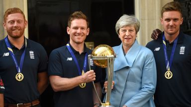 England team visit Downing Street
