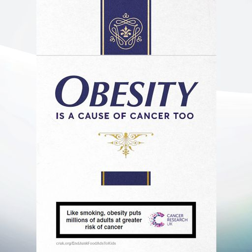 Cancer Research advert criticised for 'comparing smoking to obesity'