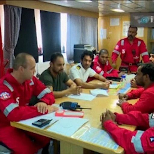 Stena Impero: Crew seen in first pictures from inside UK-flagged oil tanker seized by Iran