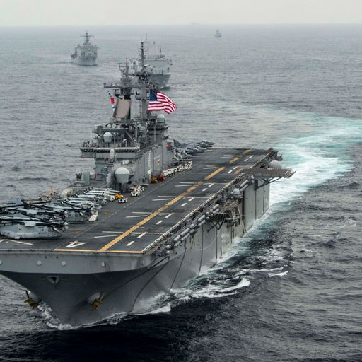 US warship destroys Iranian drone in Strait of Hormuz