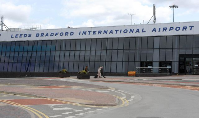 Leeds Bradford airport closes and flight diverted after drone sighting