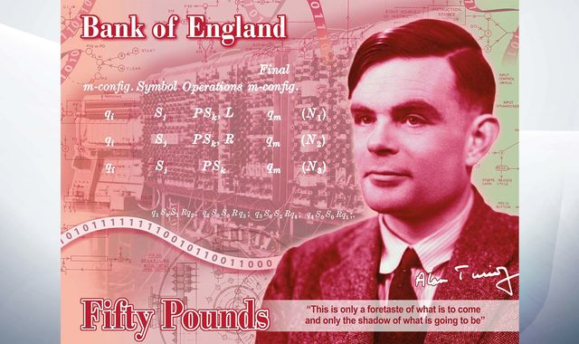Alan Turing: WWII codebreaker revealed as new face of £50 note