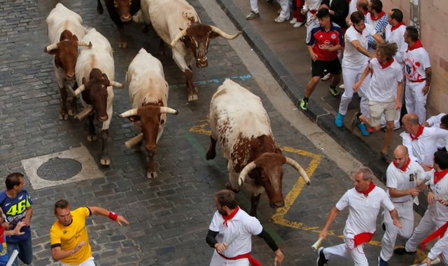 Pamplona bull run: Three men gored on final day of San Fermin festival