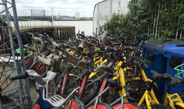 Dockless bikes dumped: Firms told to help retrieve them from canals