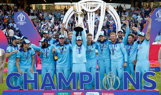 England's cricket World Cup winners hailed heroes as they celebrate historic victory