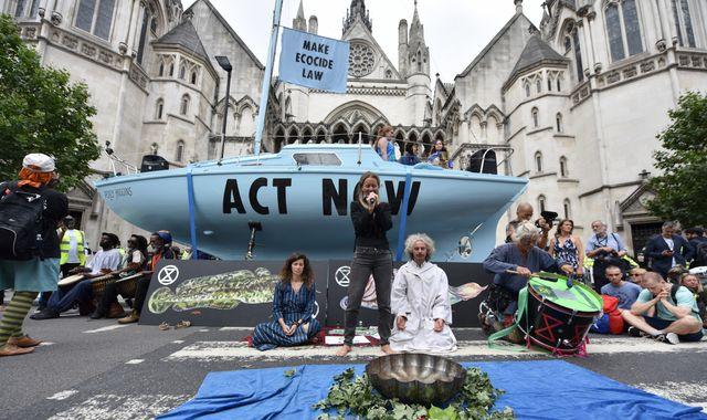 Extinction Rebellion block traffic in UK cities in 'summer uprising' environmental protests
