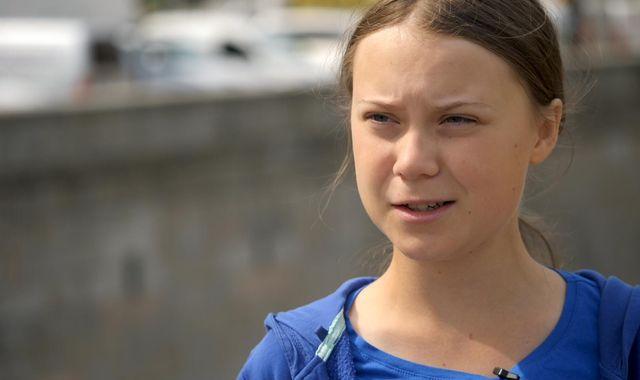 UK carbon emissions target 'doing more harm than good', teen climate activist Greta Thunberg tells Sky News