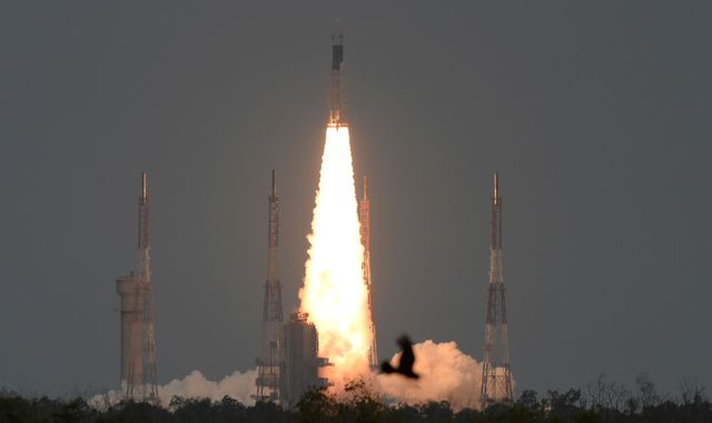 India launches rocket to far side of moon - just days after aborted take-off