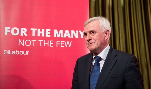 Labour's John McDonnell pledges to tackle 'scourge' of poverty