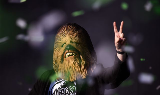 Lewis Capaldi and Noel Gallagher feud: Chewbacca mask worn by Scottish singer raises £5k