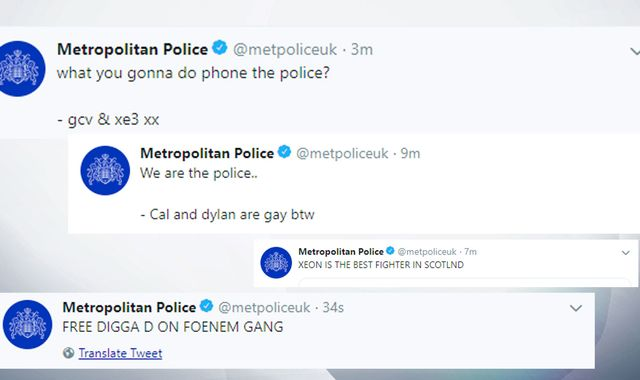 Hackers post bizarre series of tweets on Metropolitan Police account