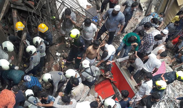 Mumbai building collapse: Four dead and more than 30 feared trapped