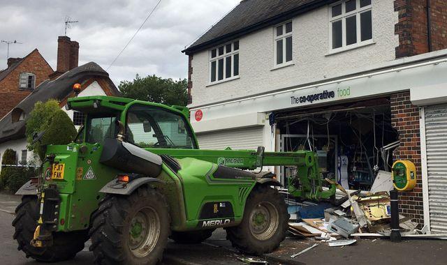 Village store smashed by ram-raiders targeting cash machine
