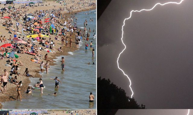 UK weather: Thunderstorms strike Britain with heatwave set to bring record-breaking temperatures
