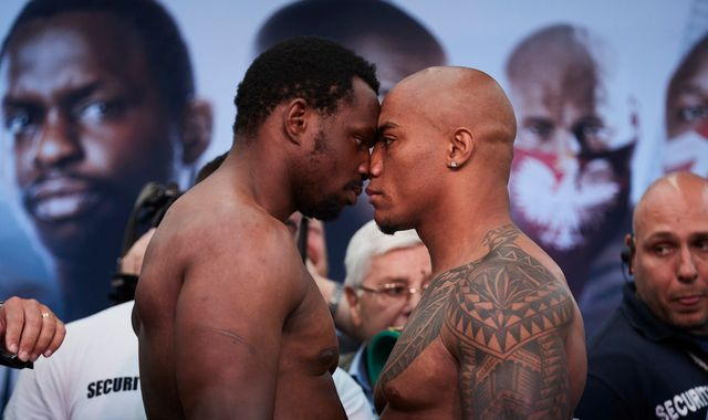 Whyte vs Rivas: Intense weigh-in sees Dillian Whyte and Oscar Rivas lock horns