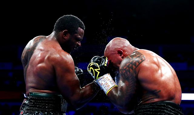 Whyte vs Rivas: Rugged Dillian Whyte survives knockdown to out-battle Oscar Rivas