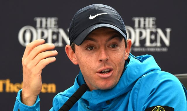 The Open: Rory McIlroy denies being under added pressure at Portrush