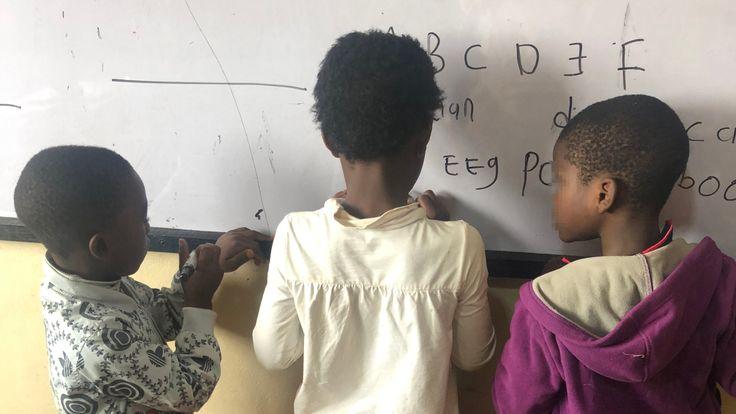 Schoolchildren in Cameroon