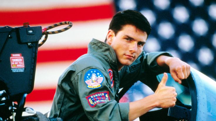 Tom Cruise in Top Gun 1986