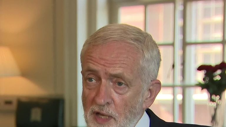 Labour party leader Jeremy Corbyn says the country 'deserves a general election'