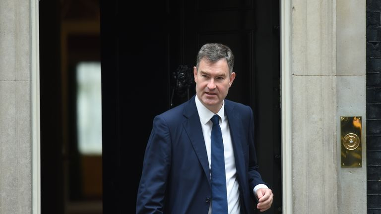 Justice Secretary David Gauke leaves following a cabinet meeting at 10 Downing Street, London.
