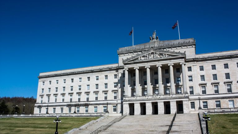 The Parliament Buildings, home of the Northern Ireland Assembly, in the Stormont Estate in Belfast.