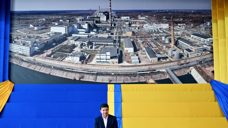 £2bn structure sealing off Chernobyl's reactor is unveiled
