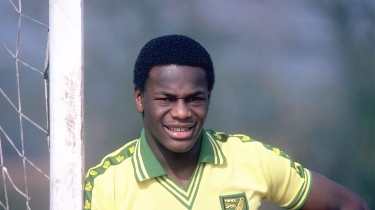 Apr 1981:  Portrait of Justin Fashanu of Norwich City. \ Mandatory Credit: Allsport UK /Allsport