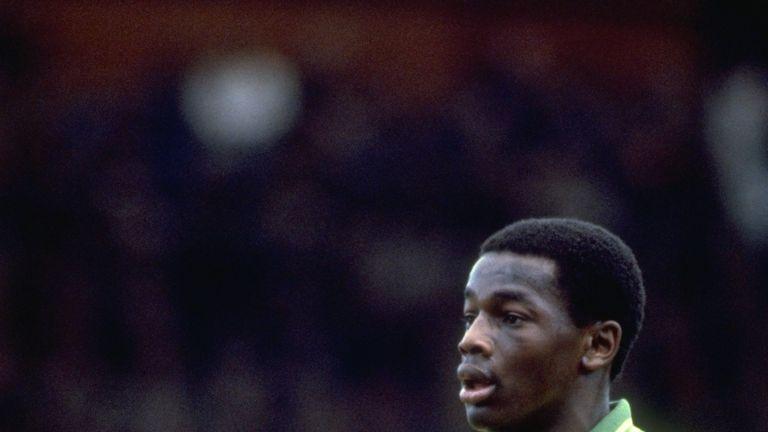 1981:  Portrait of Justin Fashanu of Norwich City during a match. \ Mandatory Credit: Tony  Duffy/Allsport