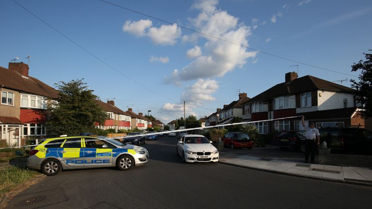 Man arrested after pair found stabbed to death in London