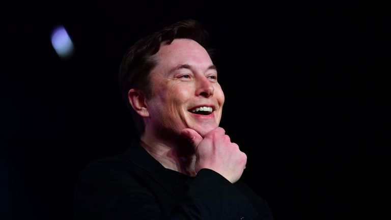 Tesla CEO Elon Musk speaks during the unveiling of the new Tesla Model Y in Hawthorne, California on March 14, 2019. (Photo by Frederic J. BROWN / AFP)        (Photo credit should read FREDERIC J. BROWN/AFP/Getty Images)