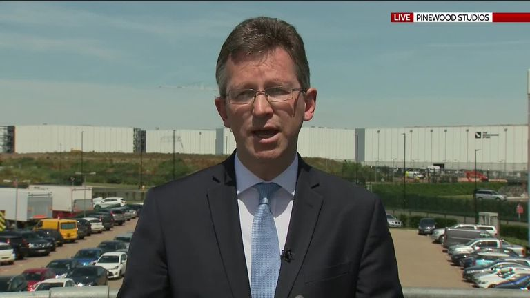 Culture secretary Jeremy Wright talks to Sky News
