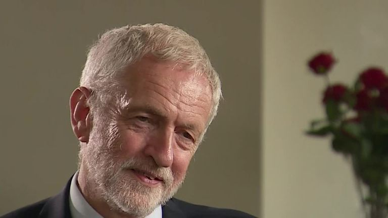 "Labour leader Jeremy Corbyn said Labour was now the ""party of choice"" when it came to Brexit"