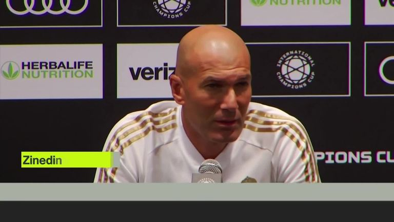 Zinedine Zidane says that Gareth Bale remains a Real Madrid player and that he still has full respect for the Wales international winger.