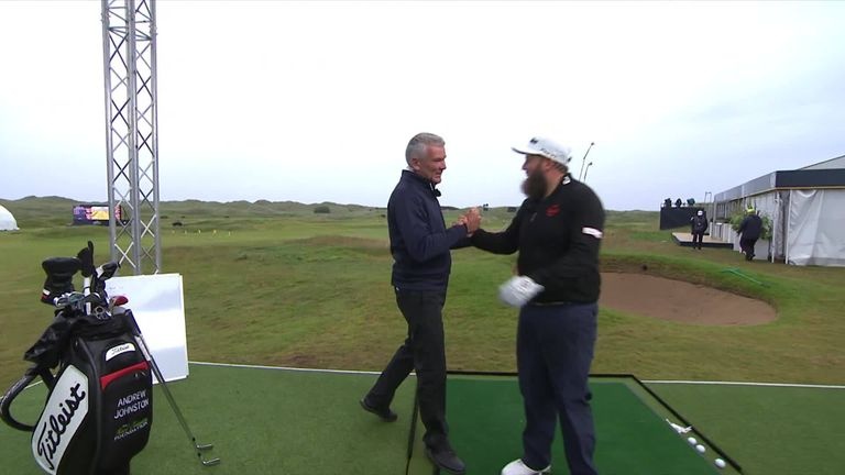 Andrew 'Beef' Johnston takes on the '148-yard challenge' in the Open Zone at Royal Portrush... but it wasn't all that it seemed!