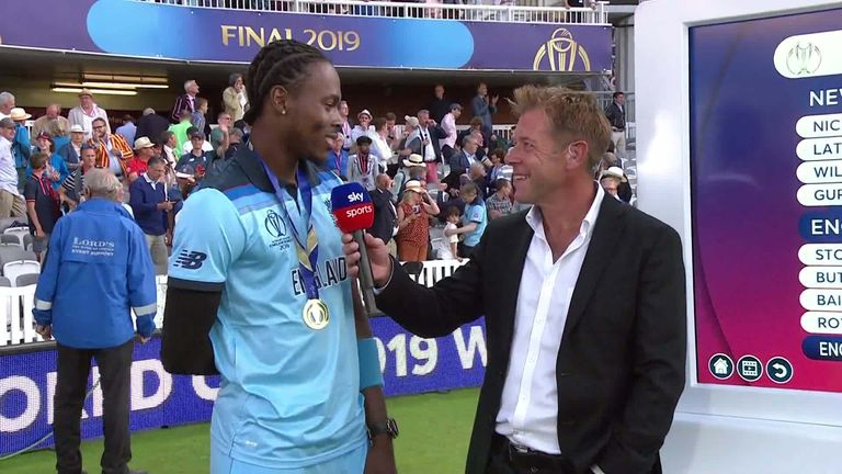 Paceman Jofra Archer talks through his Super Over in the wake of England's World Cup triumph