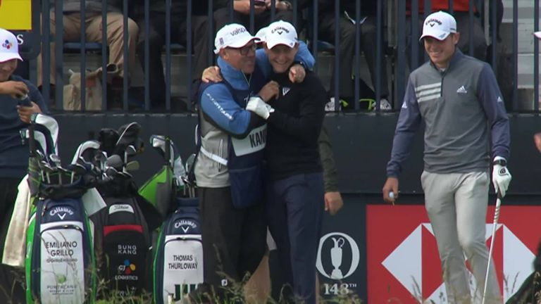 Two-over-par standing on the tee at the par-three 13th and Emiliano Grillo got back to level par in spectacular fashion as he made a hole in one