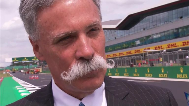 F1 chief executive Chase Carey speaks exclusively to Sky Sports News after it was confirmed the British GP will remain on the race calendar at Silverstone.
