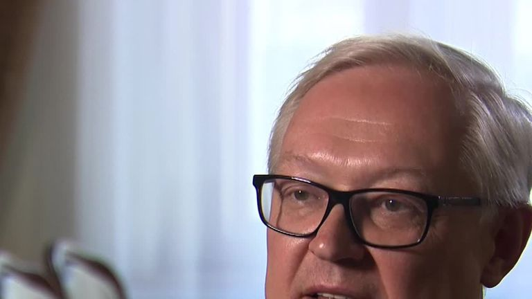 Russian foreign minister Sergei Ryabkov spoke to Sky's Moscow correspondent about Russia's foreign policy towards Europe and Nato
